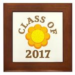 Sunflower Class Of 2017 Framed Tile