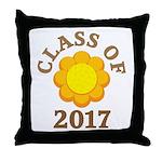 Sunflower Class Of 2017 Throw Pillow