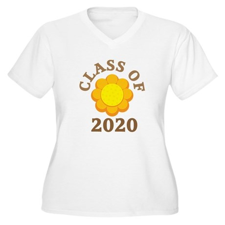Sunflower Class Of 2020 Women's Plus Size V-Neck T