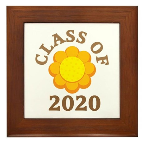 Sunflower Class Of 2020 Framed Tile