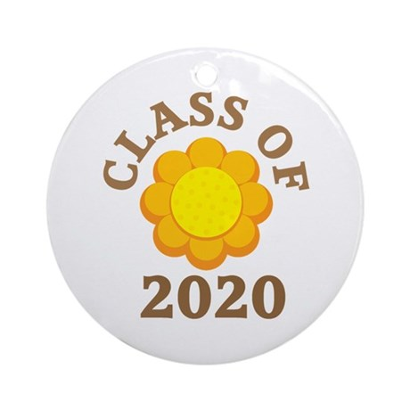 Sunflower Class Of 2020 Ornament (Round)