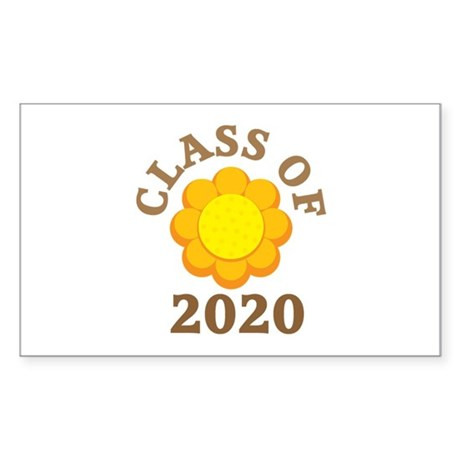 Sunflower Class Of 2020 Rectangle Sticker 10 pk)