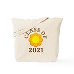 Sunflower Design Class Of 2021 Tote Bag