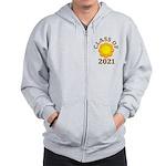 Sunflower Design Class Of 2021 Zip Hoodie
