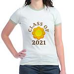 Sunflower Design Class Of 2021 Jr. Ringer T-Shirt