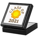 Sunflower Design Class Of 2021 Keepsake Box