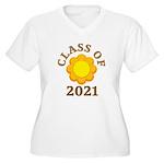 Sunflower Design Class Of 2021 Women's Plus Size V