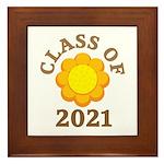 Sunflower Design Class Of 2021 Framed Tile