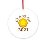 Sunflower Design Class Of 2021 Ornament (Round)