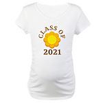 Sunflower Design Class Of 2021 Maternity T-Shirt
