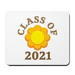 Sunflower Design Class Of 2021 Mousepad