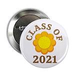 """Sunflower Design Class Of 2021 2.25"""" Button"""