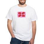 MANY LIPS White T-Shirt