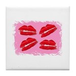 MANY LIPS Tile Coaster