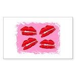 MANY LIPS Rectangle Sticker 10 pk)