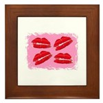MANY LIPS Framed Tile