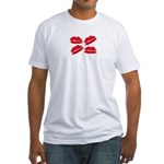 MANY LIPS Fitted T-Shirt