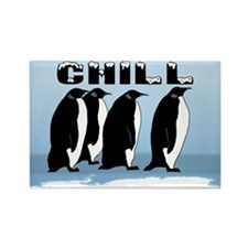 "Penguin ""Chill"" Rectangle Magnet"