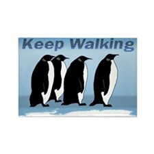 Penguin Walking Rectangle Magnet