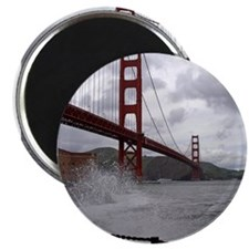 foggy golden gate Magnet