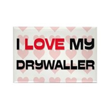 I Love My Drywaller Rectangle Magnet (10 pack)