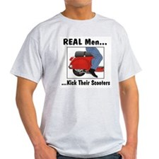 Real Men Kick Ash Grey T-Shirt