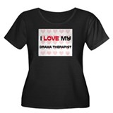 I Love My Drama Therapist Women's Plus Size Scoop