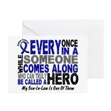HERO Comes Along 1 Son-In-Law CC Greeting Cards (P
