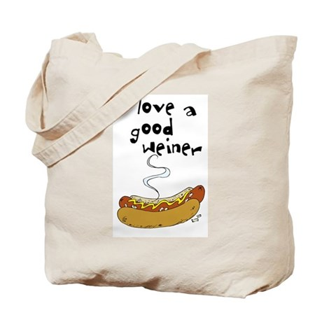 I Love a Good Weiner Tote Bag