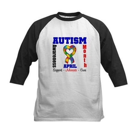 Autism Awareness Month Kids Baseball Jersey