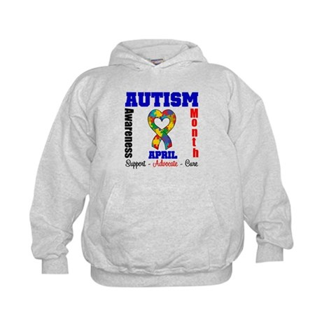 Autism Awareness Month Kids Hoodie