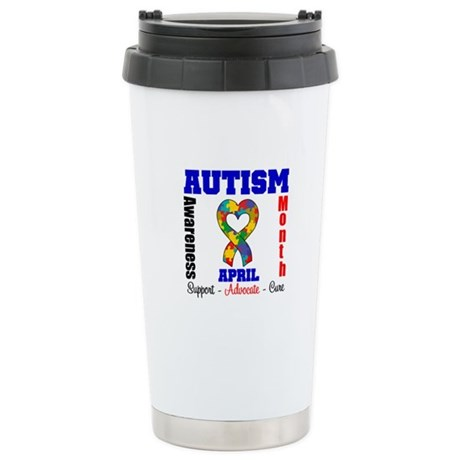 Autism Awareness Month Ceramic Travel Mug