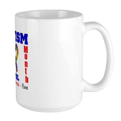 Autism Awareness Month Large Mug