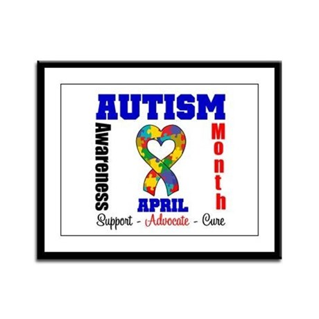 Autism Awareness Month Framed Panel Print