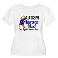 Autism Awareness Month Women's Plus Size Scoop Nec