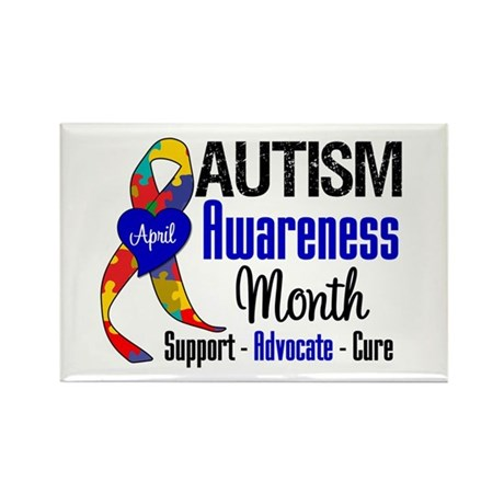 Autism Awareness Month Rectangle Magnet