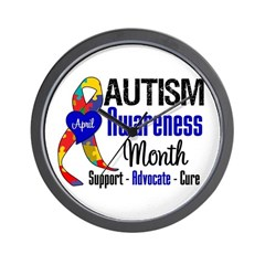 Autism Awareness Month Wall Clock
