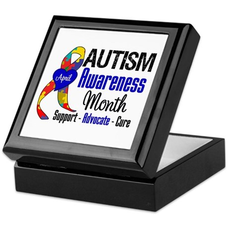 Autism Awareness Month Keepsake Box