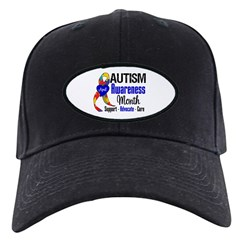 Autism Awareness Month Black Cap