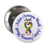 Autism Awareness Ribbon 2.25&quot; Button