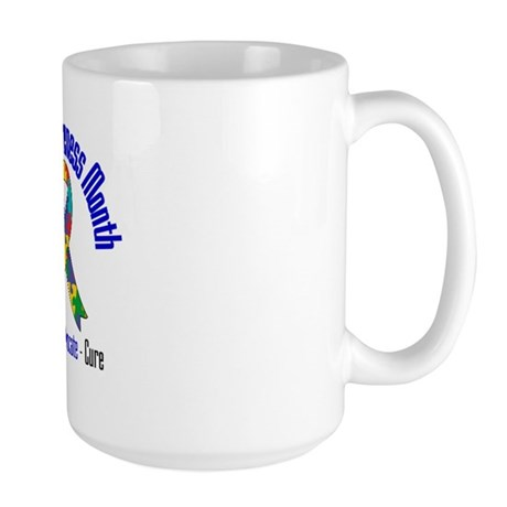 Autism Month Ribbon Large Mug