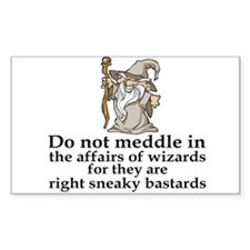 The Affairs Of Wizards Rectangle Decal