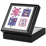 Color Block 16 Keepsake Box