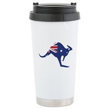 australian flag kangaroo Ceramic Travel Mug