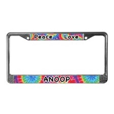 Peace Love Anoop License Plate Frame