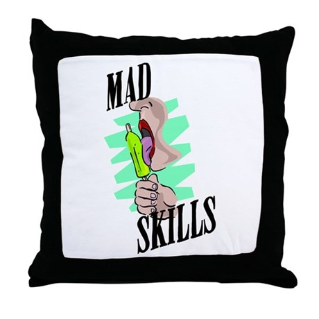 Mad Skills Throw Pillow