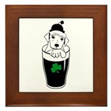 Cute Luck o the irish Framed Tile
