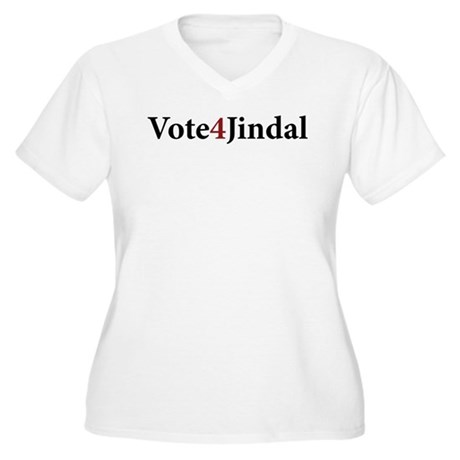 Vote 4 Jindal Women's Plus Size V-Neck T-Shirt