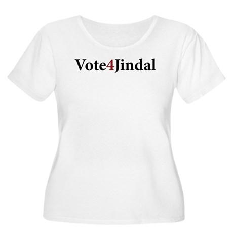 Vote 4 Jindal Women's Plus Size Scoop Neck T-Shirt