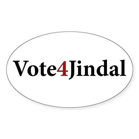 Vote 4 Jindal Oval Sticker